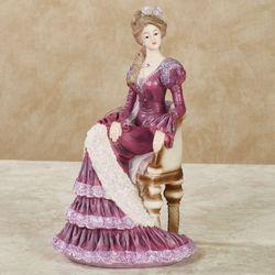 Divine Silhouette Lady Figurine Claret