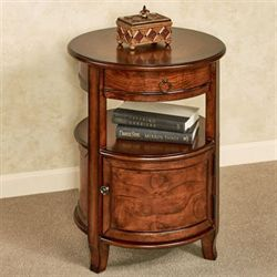 Mabella Round Accent Table Walnut