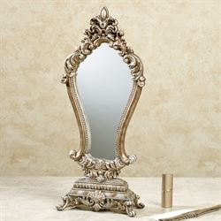 Serapione Vanity Mirror Silver with Gold