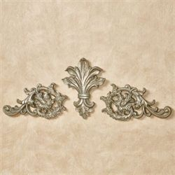 Tazia Wall Toppers Antique Silver Set of Three