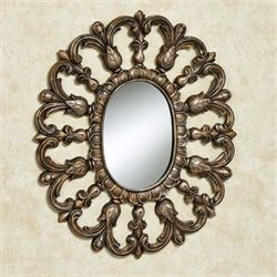 Azura Oval Wall Mirror Gold/Black