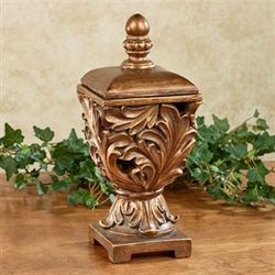 Arabella Decorative Covered Box Light Bronze