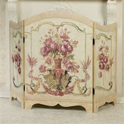 Floral Melody Decorative Fireplace Screen Multi Pastel