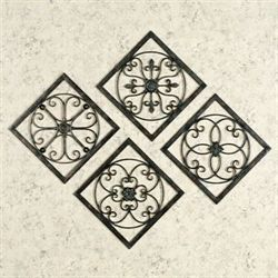 Senona Metal Wall Art Set  Set of Four