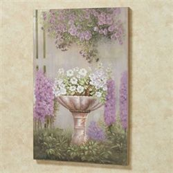Blooming Petunias Canvas Wall Art Multi Pastel