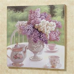 Afternoon Tea Canvas Wall Art Multi Pastel
