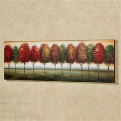 Shady View Canvas Wall Art Multi Warm