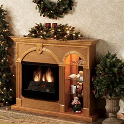 Cambridge Lighted Curio Fireplace