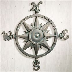 Compass Metal Wall Art