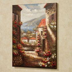 Tuscan Seaside View Canvas Wall Art Multi Warm