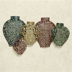 Collection of Vases Wall Art Multi Jewel