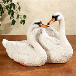 Serene Love Swan Sculpture White