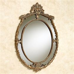 Wazzala Oval Wall Mirror Antique Gold