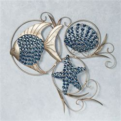 Ocean Gems Wall Art Platinum