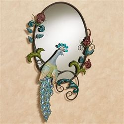 Glorious Peacock Wall Mirror Multi Jewel