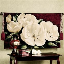 Magnolia Crimson I Wall Tapestry