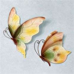 Butterfly Observance Wall Art Multi Pastel Set of Two