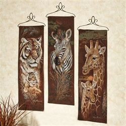 Safari Animals Panel Set  Set of Three