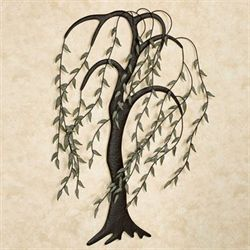 Willow Breeze Wall Art Sculpture Brown