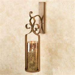 Sabra Hanging Wall Sconce Satin Gold
