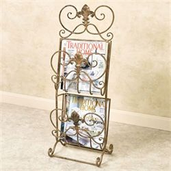 Santino Magazine Rack Antique Gold