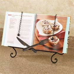 Bon Appetit Kitchen Cookbook Stand Antique Bronze