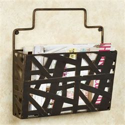 Modern Symmetry Wall Magazine Rack Antique Bronze Single