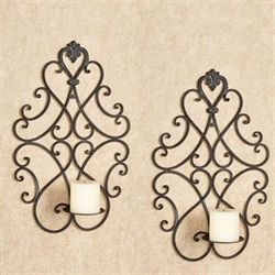 Aldabella Wall Sconces Tuscan Slate Pair