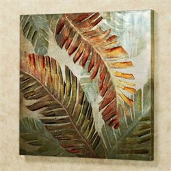 Dancing Palms Canvas Wall Art Multi Warm