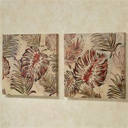 Frond Haven Canvas Wall Art Multi Warm Set of Two