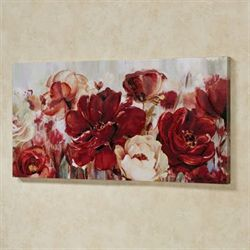 Rhapsody of Florals Canvas Wall Art Multi Warm