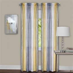 Sacada Tailored Curtain Pair Gray/Yellow