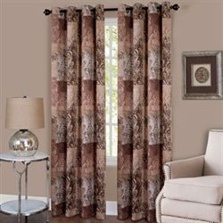 Craze Grommet Curtain Panel Chocolate