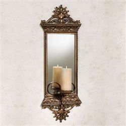 Georgiane Mirrored Wall Sconce Antique Gold