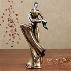 A Magic Evening Dance Figurine Golden Bronze