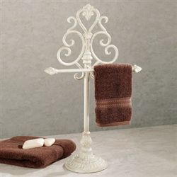 Aldabella Creamy Gold Towel Stand/Jewelry Holder