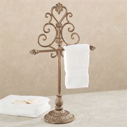 Aldabella Satin Gold Towel Stand/Jewelry Holder