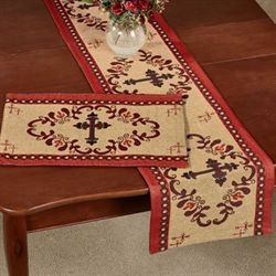 Western Cross Table Runner Multi Warm 13 x 72