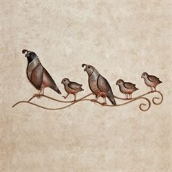 Quail Trail Metal Wall Art Multi Earth