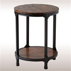 Macon Rustic Accent Table Aged Brown