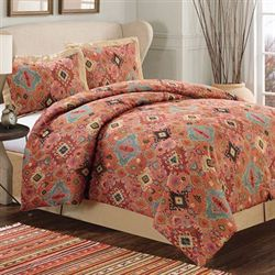 Diamante Comforter Set Vermillion