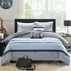 Paul Comforter Bed Set Blue/Gray
