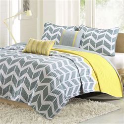 Nadia Coverlet Bed Set Yellow