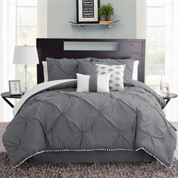 Callie Comforter Bed Set Dark Gray