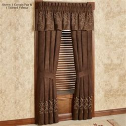 Buckmark Suede Curtain Pair Light Chocolate 84 x 84