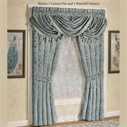 Sicily Teal Wide Tailored Curtain Pair Teal 100 x 84