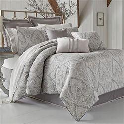 Mykonos Comforter Set Gray