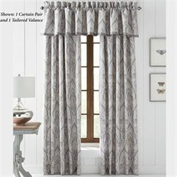 Mykonos Tailored Curtain Pair Gray 82 x 84