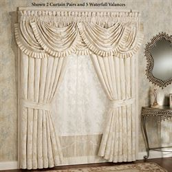 Classique Waterfall Valance Pearl 49 x 33