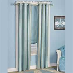 Clearwater Foam Backed Grommet Curtain Pair Multi Cool 84 x 84